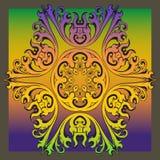 Decorative colorful vintage ornament florid tile. Decorative colorful florid tile with colorful vintage ornament design for creative needs Royalty Free Stock Images
