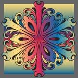 Decorative colorful vintage ornament florid tile. Decorative colorful florid tile with colorful vintage ornament design for creative needs Stock Photography