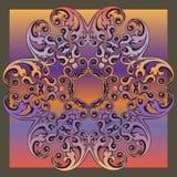Decorative colorful vintage ornament florid tile. Decorative colorful florid tile with colorful vintage ornament design for creative needs Stock Image
