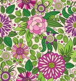 Decorative colourful picturesque seamless pattern Royalty Free Stock Image
