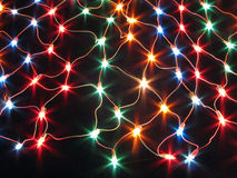 Decorative colourful string light net Royalty Free Stock Images