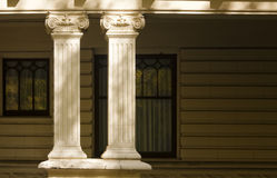 Decorative Columns, Residential Architecture royalty free stock photo