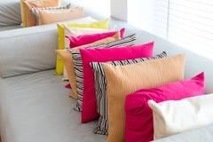 Decorative comfortable pillow natural Fabric Stock Photos