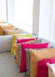 Decorative comfortable pillow natural Fabric Royalty Free Stock Photo