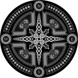 Decorative compass in Celtic style Stock Images