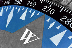Decorative compass on the cement ground Stock Photos