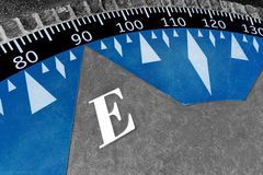 Decorative compass on the cement ground Royalty Free Stock Image