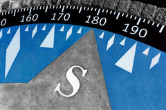 Decorative compass on the cement ground Royalty Free Stock Photography