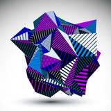 Decorative complicated unusual eps8 figure constructed from tria Royalty Free Stock Photography