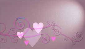 Decorative composition of hearts. Decorative composition of nice hearts for st Valentine Stock Photos