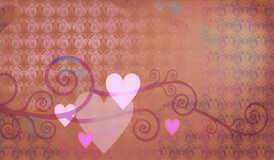 Decorative composition of hearts. Decorative composition of nice hearts for st Valentine Royalty Free Stock Images