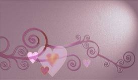 Decorative composition of hearts. Decorative composition of nice hearts for st Valentine Royalty Free Stock Photo