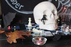 Decorative composition for interior decoration for Halloween