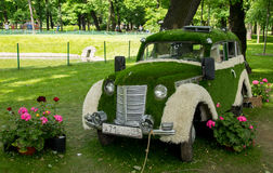 Decorative composition in Mikhailovsky Garden Stock Photo