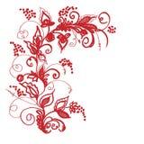 Декоративная композиция. Композиции из декоративных, растительные элементы. Площадь иллюстрации Royalty Free Stock Photos