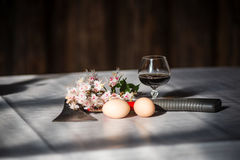 Decorative composition with vintage items Stock Image