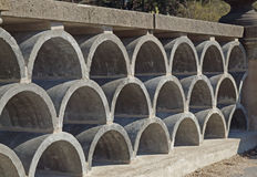 Decorative concrete block Stock Photography