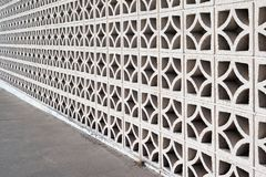 Decorative masonry screen wall. Decorative concrete block screen wall stock images