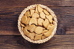 Decorative cookies in bowl Stock Photography