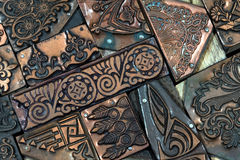 Decorative Copper Blocks Royalty Free Stock Images
