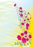 Decorative corner 002 on a grunge background. Scalable floral decorative corner on a grunge background Stock Photo
