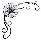 Decorative Corner. Floral decorative corner, with space for text or image. EPS10 vector vector illustration