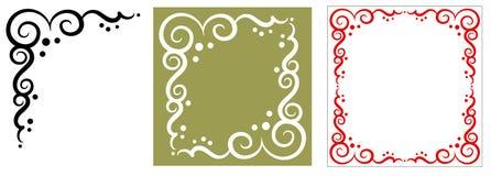 Decorative corner ornament. Original decorative design elements. White background royalty free illustration