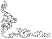Decorative corner ornament. In retro style vector illustration