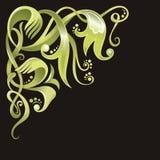 Decorative corner, vector. Floral decoration, ornamental corner, element for design, vector illustration Stock Image