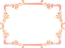 Decorative corners and borders. Decorative colourful ornament or frame Royalty Free Stock Image