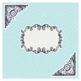 Decorative corners and frame in vintage style Stock Images