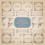 Decorative corners and frames - vintage style. Vector set of various decorative corners and frames with ornaments in vintage style Stock Photography