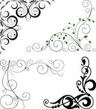 Decorative corners. Vector image of the decorative elements Stock Photography