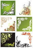 Decorative corners and vignettes. Collection of ornamental corners and vignettes, elements for design, vector illustration Stock Images