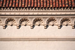 Decorative cornice. Close up photo of an architectural detail - ornamental cornice Stock Photos