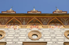 Decorative cornice at the Pruhonice castle Royalty Free Stock Photo