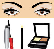 Decorative cosmetic for eyes Stock Photos