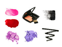 Decorative cosmetic product samples Royalty Free Stock Photo