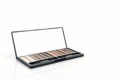Decorative Cosmetic set eyeshadow. Royalty Free Stock Image
