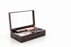 Decorative Cosmetic set with lipstick and eyeshadow. Stock Photography