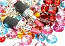 Decorative cosmetics Stock Images
