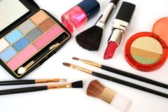 Decorative cosmetics Royalty Free Stock Photo