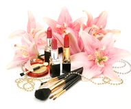 Decorative cosmetics Stock Photos