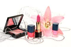 Decorative cosmetics Royalty Free Stock Photos