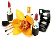 Decorative cosmetics Royalty Free Stock Images