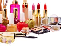 Decorative cosmetics. Royalty Free Stock Images