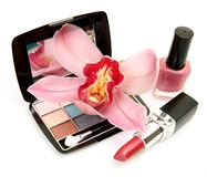 Decorative cosmetics Royalty Free Stock Image