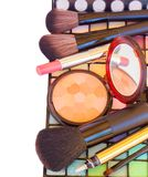Decorative cosmetics border Royalty Free Stock Photography