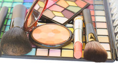 Decorative cosmetics border Stock Photos