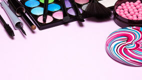 Decorative cosmetics for festive party make up Royalty Free Stock Photo